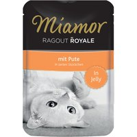 22 x 100g | Miamor | mit Pute in Jelly Ragout Royale | Nassfutter | Katze