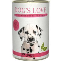 24 x 200 g | Dog's Love | Rind mit Karotte und Salbei Junior | Nassfutter | Hund