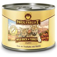 6 x 200 g | Wolfsblut | Wild Duck & Turkey Puppy | Nassfutter | Hund