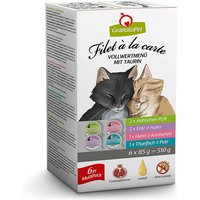 6 x 85 g | GranataPet | Multipack Filet á la carte | Nassfutter | Katze